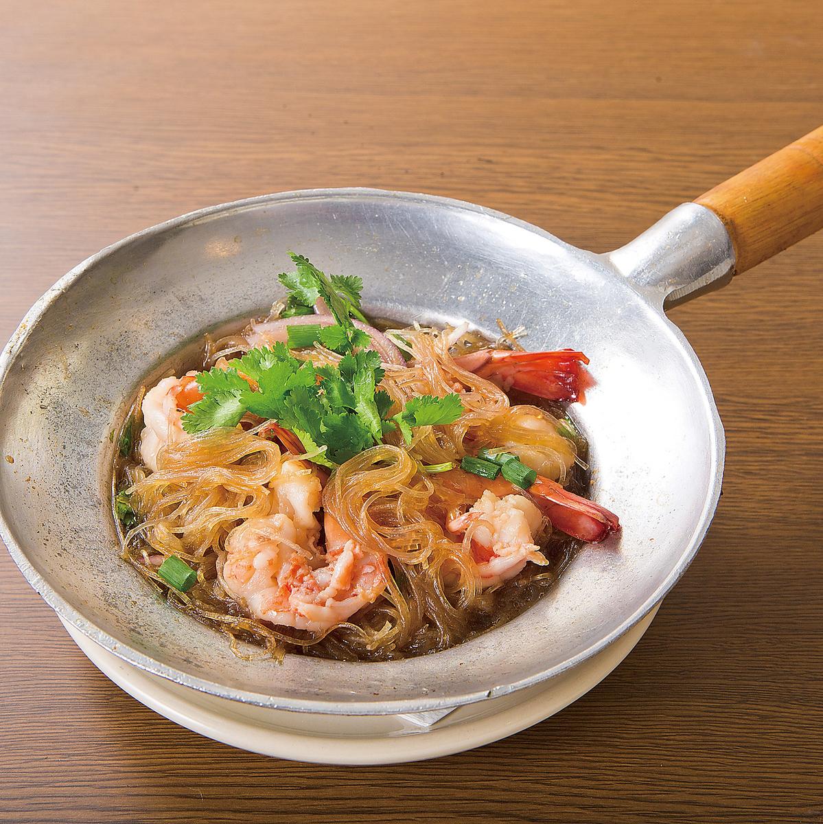 蒸虾和粉丝锅