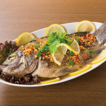 Braised red snapper with red snapper