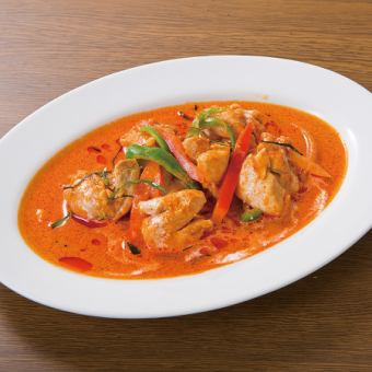 Dry red curry (chicken or pork)