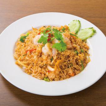 Tom yum cun fried rice / pork spicy fried rice with pork