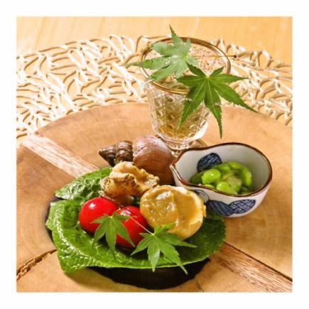 【Otsumami Course】 Leave it alone and eat only small amounts