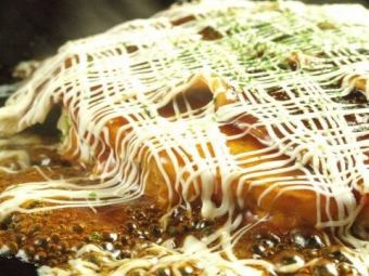 [Satiety 2 hours] okonomiyaki, Monja all 45 types of all-you-can-eat 1850 yen (tax included)
