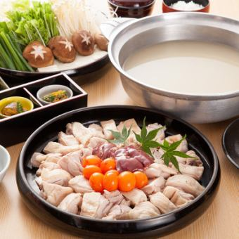 名物・地鶏ちり鍋 全6品 3500円