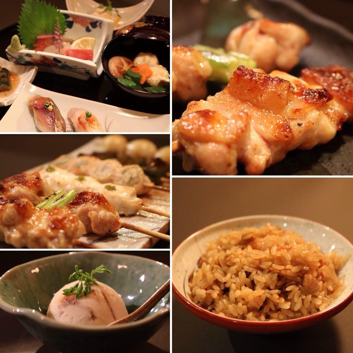 """流行的""""懷石料理課程""""。以合理的價格,就可以享受用餐的奢華!"""