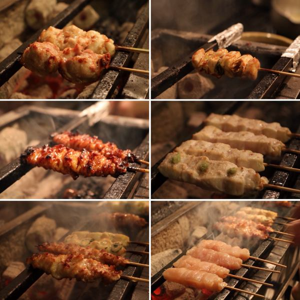 """Yakitori"" which handles selected young chickens in the morning and puts them with souls."