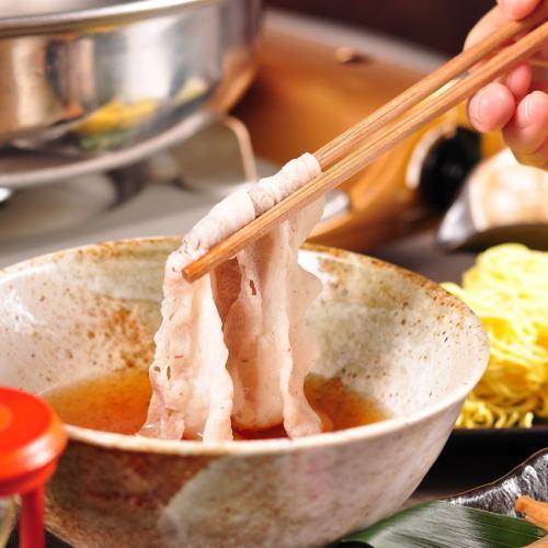 120分鐘[飲用釋放]旭川生產馬鈴薯豬用,Namakomi&Katsuho站在呈現湯涮鍋在過程7菜餚中4000日元⇒優惠券使用