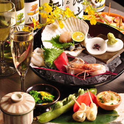 Recommended for a somewhat luxurious party! 120 minutes with all you can drink 7 items 5000 yen (no pot) ⇒ Use coupons to bring in & live screens