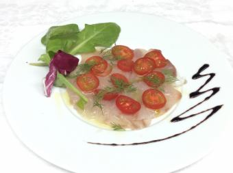 Fresh fish carpaccio today