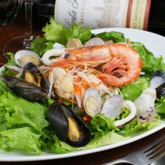 Fresh seafood salad