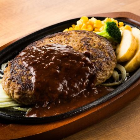 Hamburger steak set (16 oz)