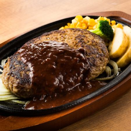 Hamburger steak (7 ounces 880 yen / 11 ounces 1080 yen / 16 ounces 1580 yen) ※ tax excluded