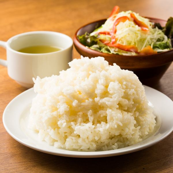 Of course not to match with meat ... Rice in a cooked state !! You can choose from normal / large heap / special prime ♪ Gatsuri rice in Ueno!