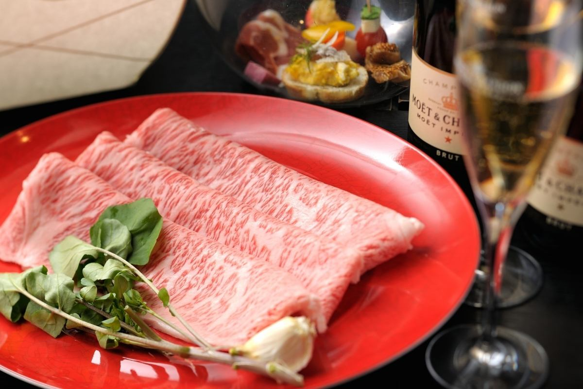 Luxury ♪ the A5 grade brand beef grilled