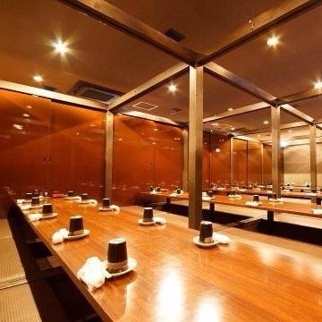 私人房間可容納40人!團體宴會也可以