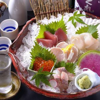 【宴会/新年会】旬の鮮魚など豪華逸品の120分飲み放題付きコース5500円→4500円