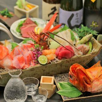 【宴会/新年会】旬の鮮魚とお肉の贅沢 120分飲み放題付きコース6000円→5000円