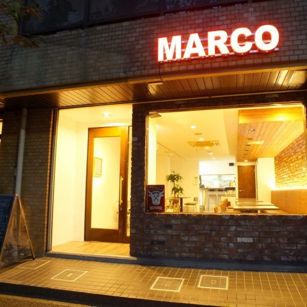 """[亥肉巴爾]的""""馬可""""泛著微光的霓虹燈,在令人印象深刻的♪隱藏時尚巴爾,請享受的肉類菜餚和酒♪的驕傲"""