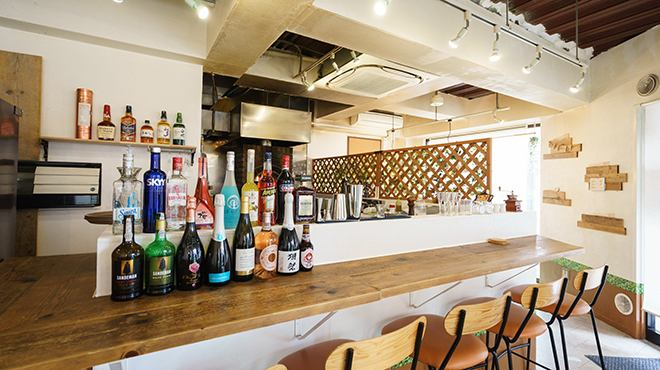 Alcohol and pizza kiln in front of you! In addition, the bartender makes sake in front of you.People who like sake, one person · Couples by all means here!