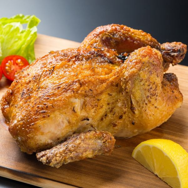 Whole one bird! Juicy rotisserie chicken