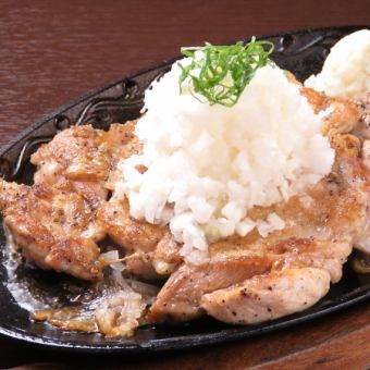 Japanese dishes grated oyster chicken steak