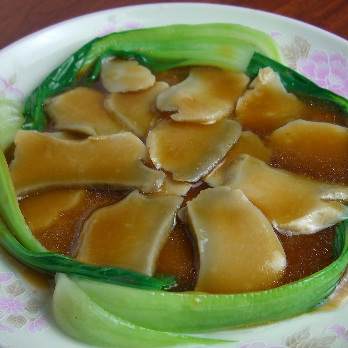 アワビのオイスターソース煮/アワビのクリーム煮