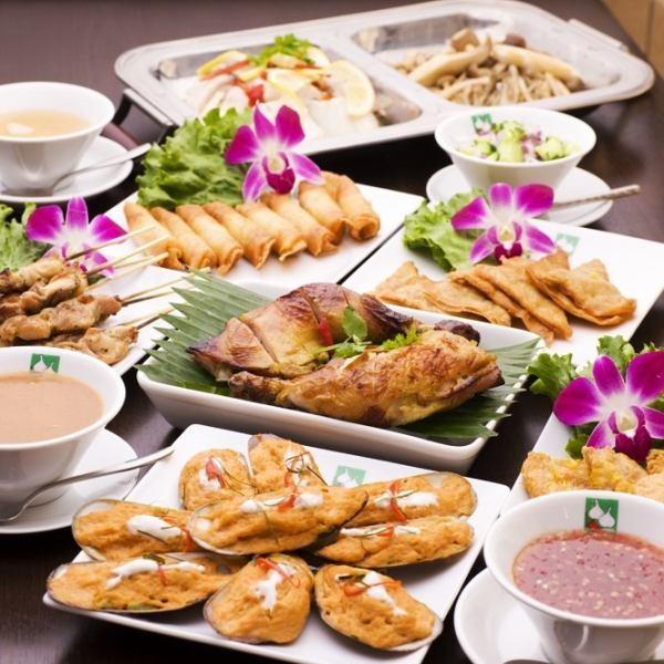 大人気!!タイ料理ランチブッフェスタイル♪平日1450円/土・日・祝日1800円!飲み放題もお付けできます♪