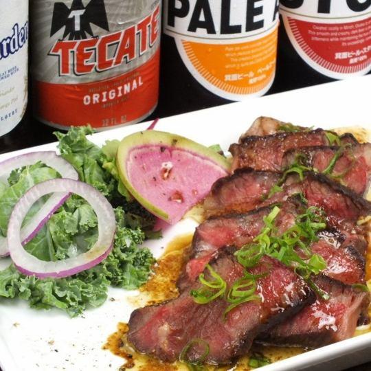 【ディナーにはステーキが登場♪】絶品!牛ロースステーキ(150g)とブラウンバターソース◇1500円