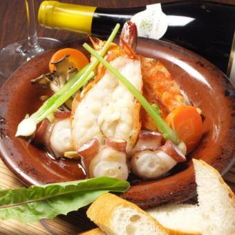 日式海鮮!3種蝦,章魚和蘑菇