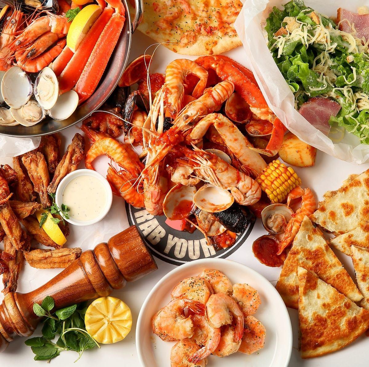 점심도 영업 ★ 해산물을 즐길 수있는 신감각 엔터테인먼트 레스토랑!