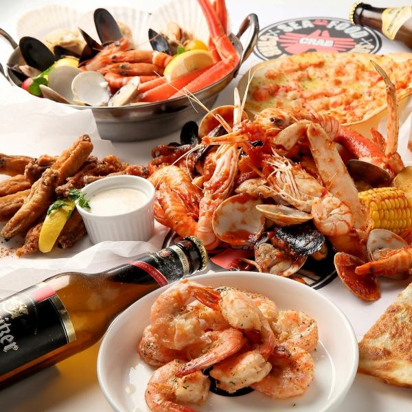 【Limited time offer】 All you can eat most popular COMBO! Eat seafood wonderfully with hands ♪ All you can eat crab