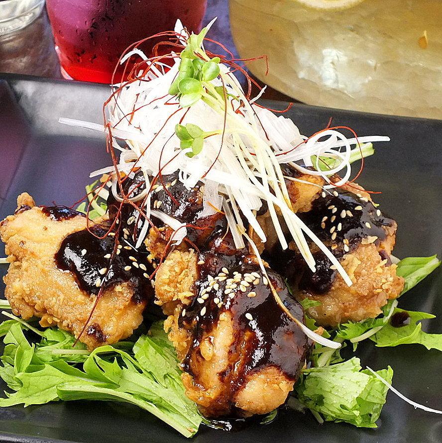 Fried chicken with fried chicken Hatch-chop miso sauce