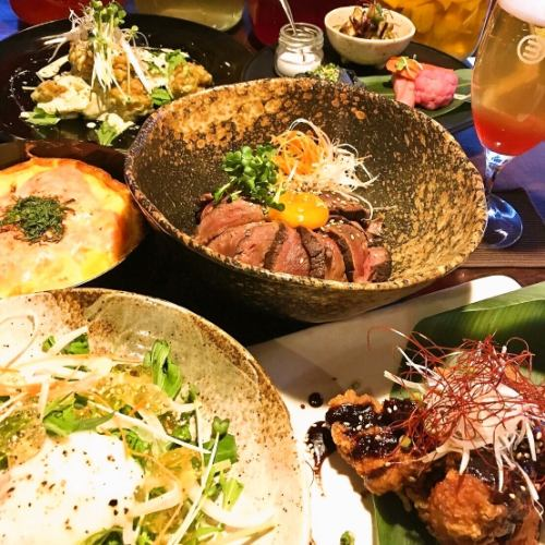 オススメコースで体に優しく★手作り料理の数々がコースで楽しめる♪料理8品~3000円飲放付で4500円♪