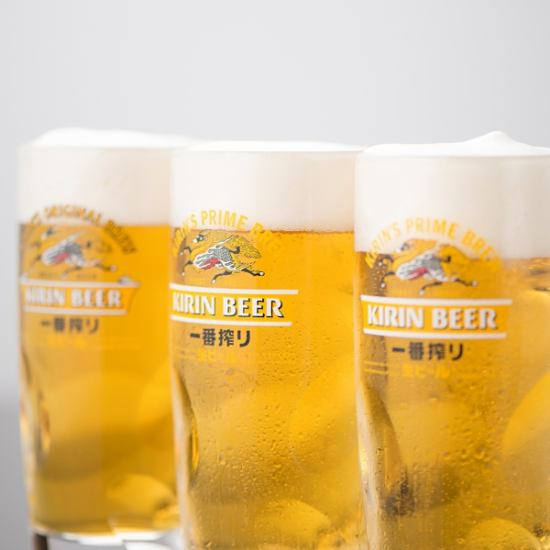 Course is from 2890 yen ~ All draft beer including over 200 kinds of fulfilling drinks available