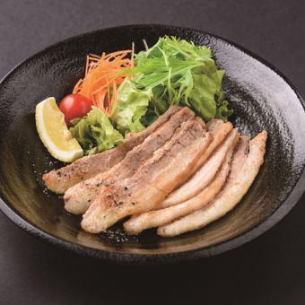 Broil meat of pork belly
