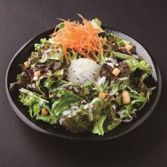 Soft-boiled egg Caesar salad