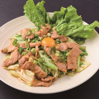 Stir-fried Sweet Miso with Pig and Cabbage ~ Load Yolk -