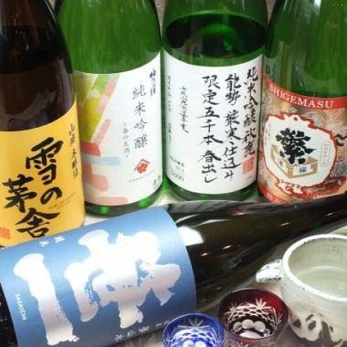 全国各地の銘酒が一合800円(税抜)~/繁枡、浜千鳥などの日本酒を豊富にご用意!