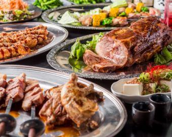 3000日元BBQ&BBQ套餐※将给予全友可以喝(单独收费500日元)。