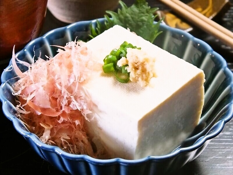 Isolated tofu's cold tofu