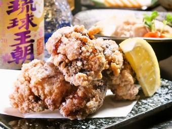 やんばる鶏の竜田揚げ