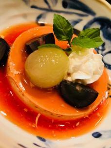 昔ながらの自家製プリン/土佐の柚子シャーベット