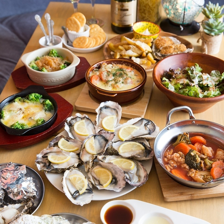 Popular 【All 5 items aseptic raw oysters all you can eat 120 minutes 3980 yen】