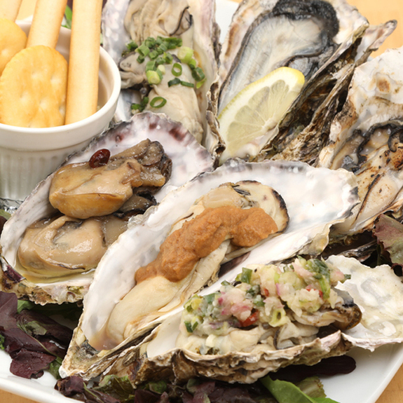 Three kinds of sterile oysters