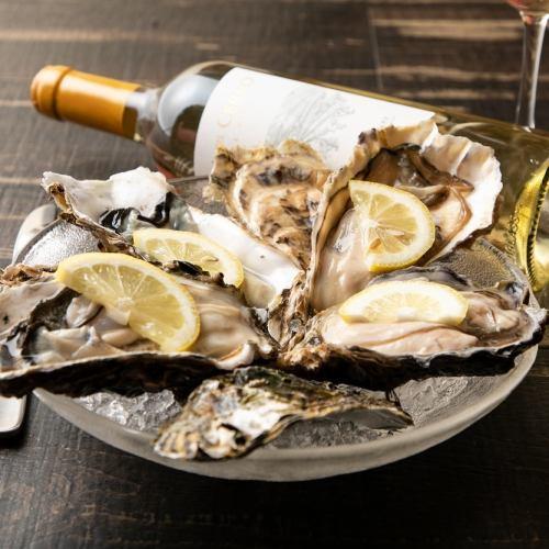 今宵は牡蠣とワインで…