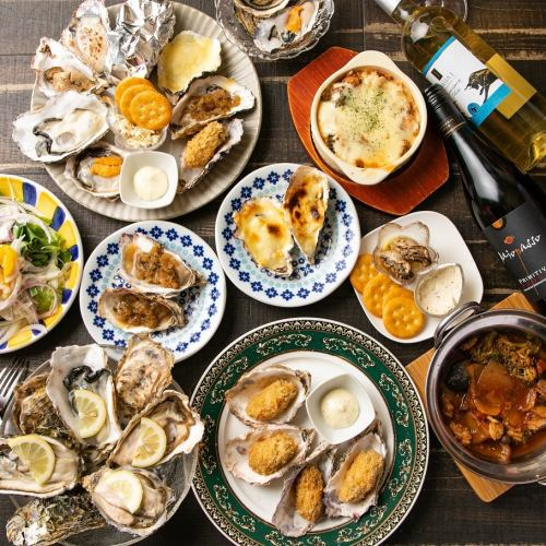 【Number of groups】 Limited number of our shop NO1 !! All-you-can-eat oysters & cheese dishes (2 hours) All 5 courses ⇒ 3980 yen (excluding tax)