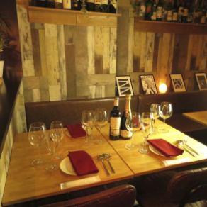 デートにも使えるテーブル席◎UMIバル~うみばる~牡蠣 チーズフォンデュ 食べ放題 西新宿