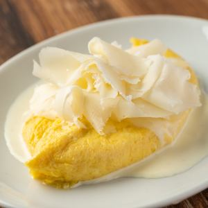 ペコリーノチーズのオムレツ
