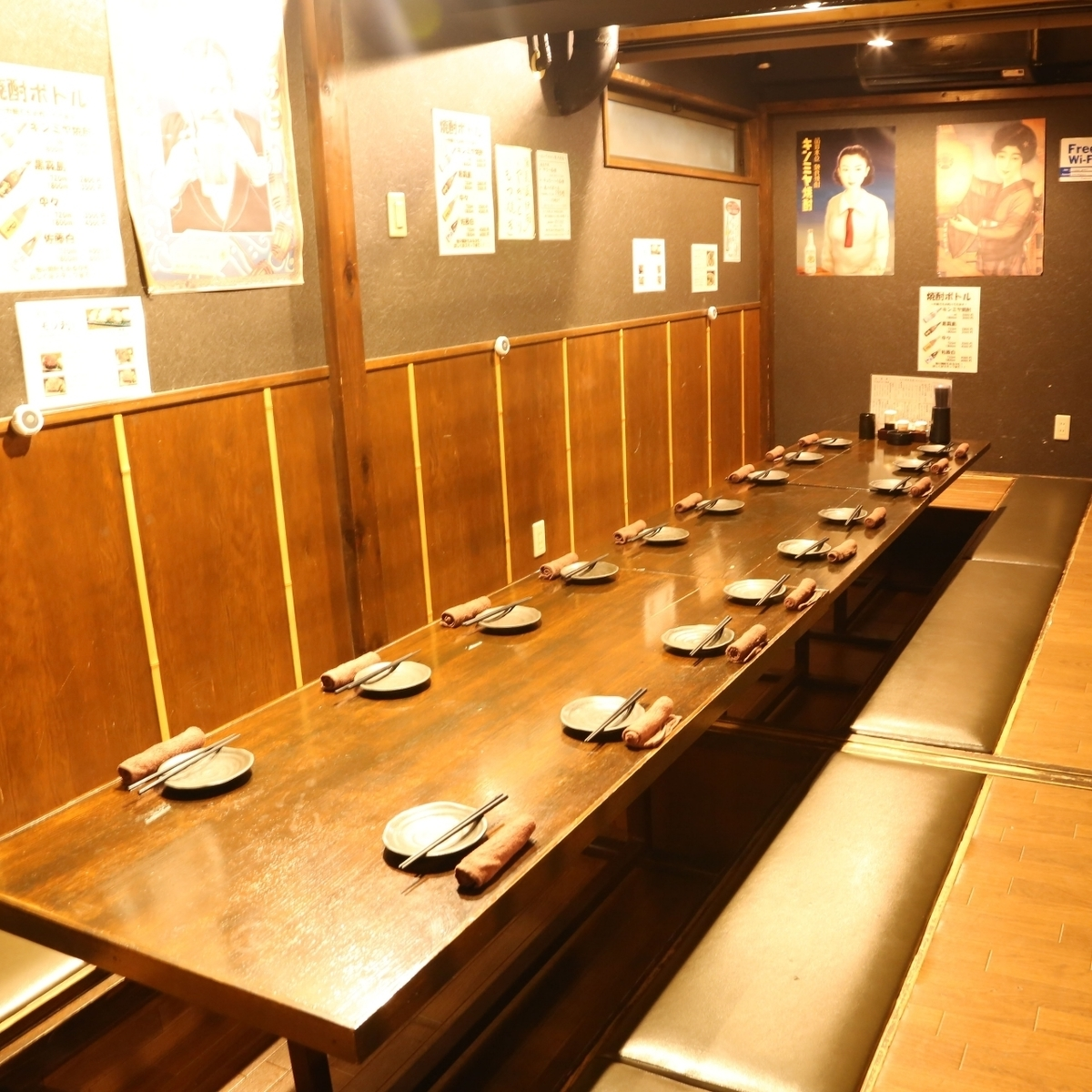 There is a banquet hall with digging type available for more than 25 people ♪ Please come to various banquets, entertainment, birthday party such as welcome reception party.※ For reservations of 20 or more please check by phone or request booking.