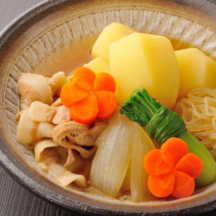 Ocean taste Herb pork meat and potatoes