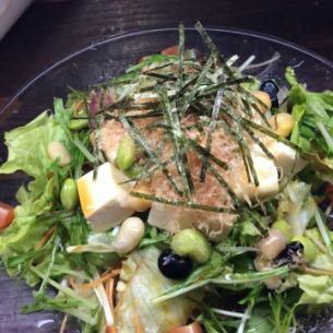 豆腐と15品目の豆サラダ
